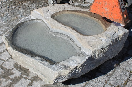 Gartenbrunnen naturstein brunnen frostbest ndig aus stein for Garten pool vorarlberg